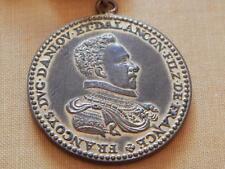 OLD FRENCH MEDALLION PERCHE FRANCOIS DUKE ALENCON ANJOU SON OF FRANCE MEDAL COIN