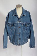 Vintage 90s Grunge Punk LEVIS Faded Blue Denim Light Wash Jean Trucker Jacket L