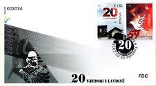 Kosovo Stamps 2018. 20th anniv Glory of Liberation. Bird, Pigeon, Dove. FDC MNH