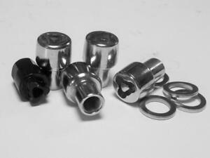 Set of 4 Ford Lug Wheel Lock Nuts 1/2 Mag Wheel Locking Lincoln Mercury