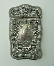 Vintage Repousse Sterling Silver Match Case