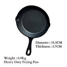 3Pcs Set CAST IRON Skillet Non-Stick Frying Griddle Pan Barbecue Grill Fry BBQ
