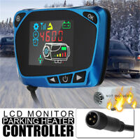 Blue 12V LCD Monitor Switch Remote Control Accessories For Car Truck Air Heater