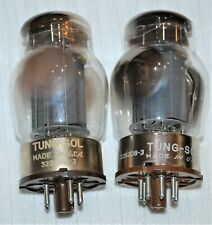 2 Vintage TUNG-SOL 6550 Audio Amplifier Solid Gray plate Tubes