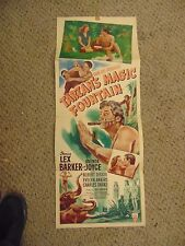 Lex Barker Tarzan's Magic Fountain Original Insert Poster #L9597