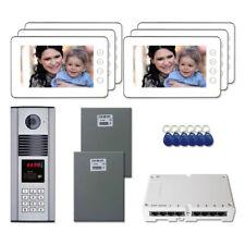 "Building Unit Access Door Video Intercom System Kit with (6) 7"" Color Monitors"