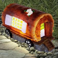 LED Jardin Déco Lampe Extérieur Figurine Wagon-Design Chariot Cour Spot Solaire