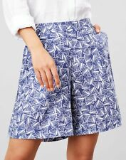 Joules Womens Coretta Printed Fluid Short - Blue Shells - 10