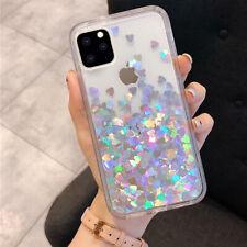 F Iphone 11 Pro XS Max 8 Plus XR Bling Glitter Heart Cute Girls Phone Case Cover