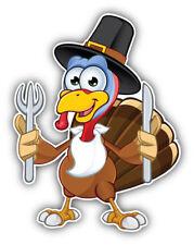 Hungry Turkey Animal Car Bumper Sticker Decal Sizes