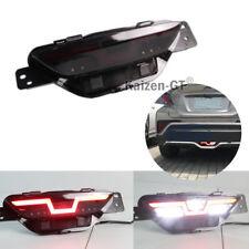 Smoked Lens LED Rear Fog Brake/Tail Backup Lights For 2016 2017 Toyota C-HR CHR