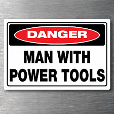 Man with power tools sticker 7 year water & fade proof vinyl laptop ipad car