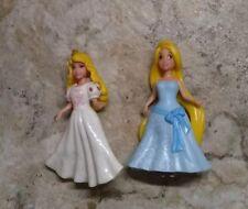 Mattel Disney Princess Polly Pocket Aurora & Rapunzel Figure Lot AF