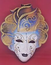 Original Hand Made &  Painted La Maschera Del Galeone Venice Mask Columbine