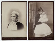 CABINET CARDS WOMAN WITH BABY, ELDERLY WOMAN. TUNKHANNOCK, PA.
