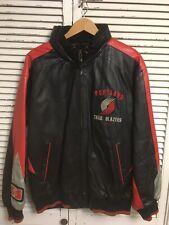 Vintage Carl Banks G-III Portland Trailblazers Leather Jacket Men's Large