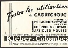 ALGER CAOUTCHOUC KLEBER-COLOMBES PIANO KLEIN MONTREUIL PUBLICITE 1950