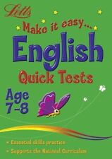 Letts _ English Make It Easy Age 7-8 _ Quick Tests _ Brand New _ Freepost Uk