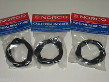old school nos black 65 inch Norco brake cables front or rear bmx atb mtb road