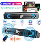 3.5mm USB Wired Computer Speakers Stereo Bass Audio Player For Desktop PC Laptop