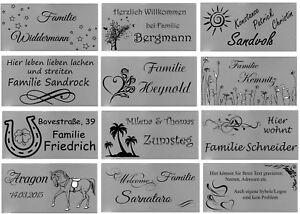 ID Türschild mit Bildern und Gravur nach Wunsch Namensschild Edelstahl 5 Größen