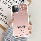Personalised Rose Marble Dripping Glitter Phone Case Cover For Apple Samsung etc
