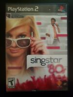 SingStar '80s Sony PlayStation 2 WITH CASE & INSTRUCTION MANUAL BUY 2 GET 1 FREE