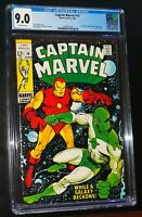 CAPTAIN MARVEL #14 1969 Marvel Comics CGC 9.0 VF/NM STAN LEE