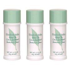 Green Tea by Elizabeth Arden, 3x1.5 oz (4.5 oz total) Cream Deodorant for Women