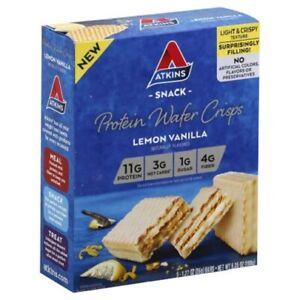 Atkins Snack Protein Wafer Crisps Lemon Vanilla