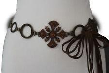 fba2b2c6c3a Ceintures marrons en métal chaîne pour femme