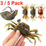 1/3/5/9Pcs 10cm 3D Manic Crab Lures Bass Wrasse Cod Sea Fishing Hook Tackle Bait