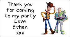 Personalised Kids Toy Story Birthday Party Thank You Stickers  Pack Of 24