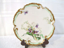 """Porcelain Cabinet Plate from Coronet  Limoges France """" Lily """" 7"""" Dia.1902-1930"""