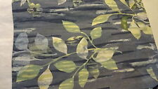 "BED SKIRT 15"" Drop Full Size 50 "" W X 74"" L Greens Grey Blue Leaves"