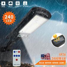 Waterproof 240 LED Solar Street Wall Light PIR Motion Sensor Lamp Outdoor Garden