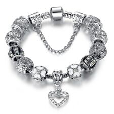 High Quality Charms Beads fit Original bracelet Silver Color Crystal Beads