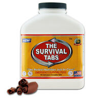 Survival tabs 180 emergency food tablets 15 days survival food supply chocolate