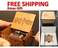 Christmas Gifts Vintage Engraved Wooden Music Box &Theme Collectible