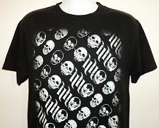 Mens Medium Hart & Huntington Tattoo Company Skulls Streetwear T Shirt Black