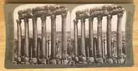 "Colossal Remnants of the ""Sun"" Temple – Baalbek, Syria – Stereoview Slide – 1900"