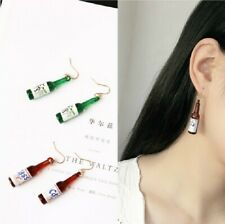 Pendant Women Earrings Jewelry -Green Fashion 1pair Creative Beer Bottle