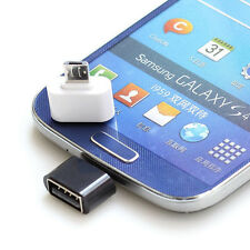 HOT Micro USB Male to USB 2.0 Female Adapter OTG Converter For Android White