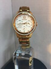 CITIZEN Ladies ECO DRIVE  SILHOUETTE SWAROVSKI CRYSTALS Watch FD2013-50A