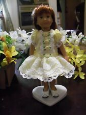 Kidz n Cats Mini Dolls Roses and Lace Easter Dress in Yellow