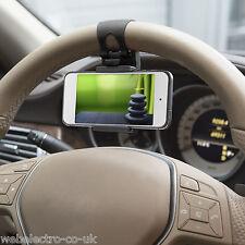 55018B Universal Mobile Phone PDA Car Steering Wheel Mount Black Holder Bracket