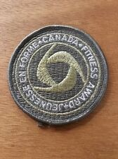 Canada Fitness Award Silver Embroidered Patch Badge Crest Unused