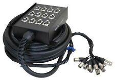 STELLAR LABS 555-13872 32' 12 Channel Box XLR Cable Snake