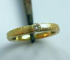 UVP 399€ Diamant Brillant Ring Gold 750 18K Verlobung 0,05ct 2,18 GRAMM Gelbgold