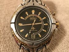 Men's Seiko Kinetic Watch - Sports 100 /Black Dial/Date/ 5M42-0B09